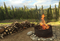 Kenai Bed and Breakfast Property - Fire Pit